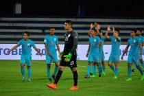 Indian national team players celebrating (Photo courtesy: AIFF Media)