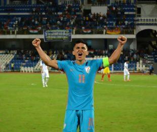 Indian national team star striker Sunil Chhetri (Photo courtesy: AIFF Media)