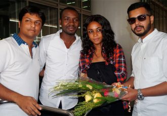 Aser Pierrick Dipanda Dicka arrives in Kolkata to join Mohammedan Sporting (Photo courtesy: Mohammedan Sporting Club)