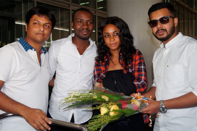 Aser Pierrick Dipanda Dicka arrives in Kolkata to join Mohammedan Sporting (Photo courtesy: Mohammedan Sporting Club)