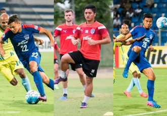 Bengaluru FC stars Nishu Kumar, Malsawmzuala and Daniel Lalhlimpuia (Photo courtesy: Bengaluru FC)