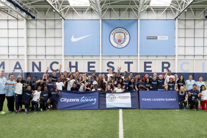 Manchester City and Etihad Airways team up to empower young community football leaders in week-long Cityzens Giving Young Leaders Summit 2017 (Photo courtesy: Etihad Airways)