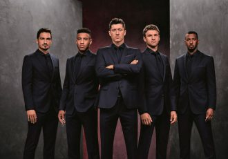 Mats Hummels, Corentin Tolisso, Robert Lewandowski, Thomas Müller and Jérôme Boateng step out in BOSS style (Photo courtesy: HUGO BOSS)