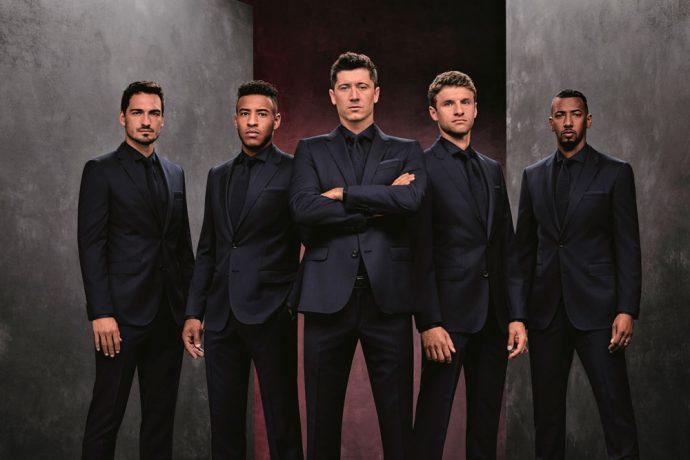Mats Hummels, Corentin Tolisso, Robert Lewandowski, Thomas Müller and Jérôme Boateng step out in BOSS style (Photo courtesy: HUGO BOSS)