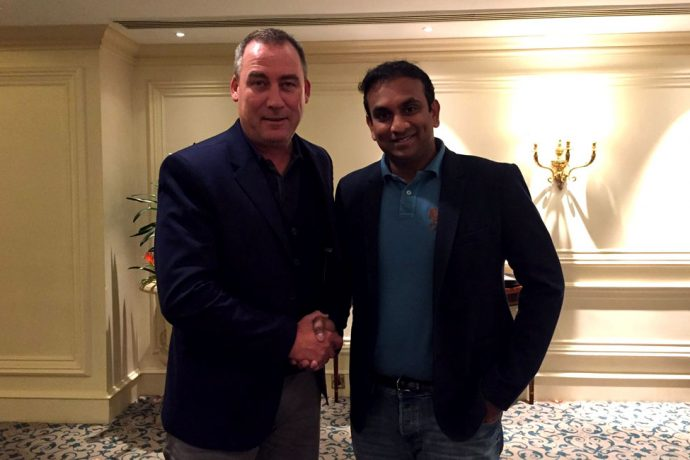 Rene Meulensteen and Kerala Blasters FC CEO Varun Tripuraneni (Photo courtesy: Kerala Blasters FC)