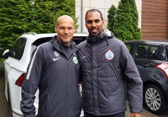 Freddie Ljungberg and Chris Punnakkattu Daniel (CPD Football)