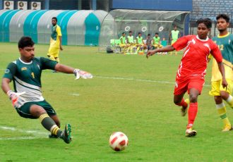 Sunrise Club registered an impressive 7-1 win against Independent Club in a FAO 1st Division League match on Thursday. (Photo courtesy: Football Association of Odisha)