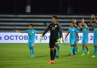 Indian national team goalkeeper Gurpreet Singh Sandhu (Photo courtesy: AIFF Media)