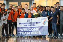 India U-23 national team receive warm welcome in Qatar (Photo courtesy: AIFF Media)