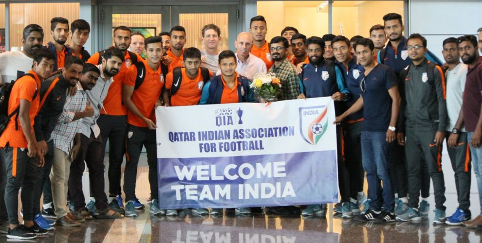 India U-23 national team receive warm welcome in Qatar (Photo courtesy: AIFF Media)