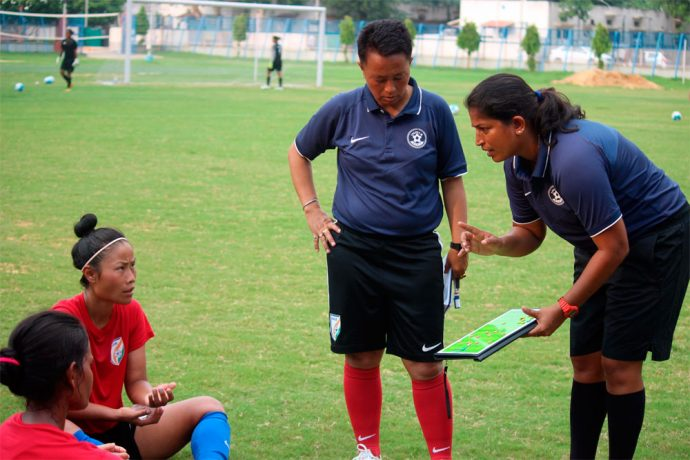 Indian Women's national team head coach Maymol Rocky (Photo courtesy: AIFF Media)