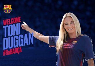 England international Toni Duggan signs for FC Barcelona Women's Team (Photo courtesy: FC Barcelona)