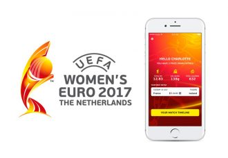 New active app at UEFA Women's EURO 2017 (Photo courtesy: UEFA)