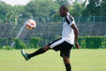 Aser Pierrick Dipanda Dicka during a Mohammedan Sporting Club training session (Photo courtesy: Mohammedan Sporting Club)