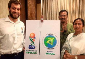 Mamata Banerjee launches Kolkata Host City Logo for FIFA U-17 World Cup India 2017 (Photo courtesy: FIFA U-17 World Cup India 2017 LOC)