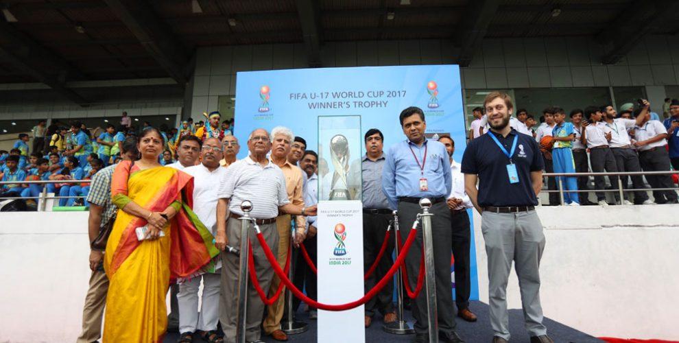 FIFA U-17 World Cup India 2017 Trophy Experience kicks off in New Delhi (Photo courtesy: FIFA U-17 World Cup India 2017 LOC)