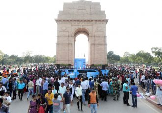 The FIFA U-17 World Cup India 2017 Trophy Experience took over the iconic India Gate in New Delhi (Photo courtesy: The FIFA U-17 World Cup India 2017 LOC)