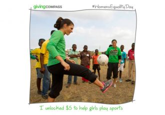 Giving Compass partners with Mia Hamm to level the playing field for girls (Photo courtesy: Giving Compass)