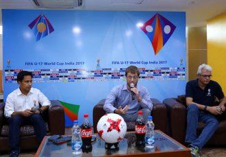 FIFA U-17 World Cup India 2017 LOC's Javier Ceppi and Joy Bhattacharya (Photo courtesy: FIFA U-17 World Cup India 2017 LOC)