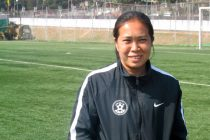 Legendary Indian Women's football star and Arjuna Award winner Oinam Bemdem Devi (Photo courtesy: AIFF Media)