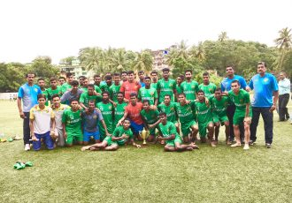 Salgaocar FC lift GFA Champions Trophy (Photo courtesy: Goa Football Association)