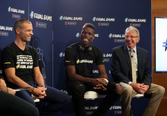 UEFA and global football stars team up to launch new RESPECT campaign #EqualGame (Photo courtesy: UEFA)