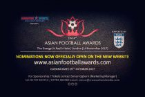 Nominations for The Asian Football Awards 2017 are now open