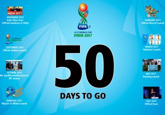 FIFA U-17 World Cup India 2017: India's biggest sports tournament kicks-off in 50 days (Image courtesy: FIFA U-17 World Cup India 2017 LOC)