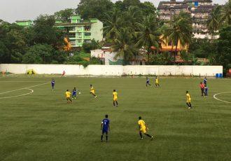 Match action during the Sub-Junior National Football Championship encounter Goa v Daman & Diu (Photo courtesy: Goa Football Association)