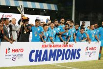 India are Hero Tri-Nation Football Series 2017 champions (Photo courtesy: AIFF Media)