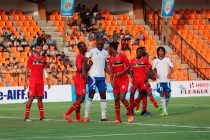 Mauritius and St. Kitts and Nevis play out a 1-1 draw (Photo courtesy: AIFF Media)