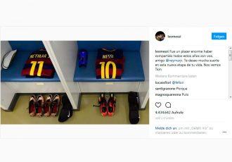 Lionel Messi bids emotional farewell to Neymar on Instagram