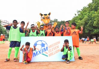 Football Takes Over Hyderabad with more than 1200 children attending the Mission XI Million festival (Phoro courtesy: FIFA U-17 World Cup India 2017)