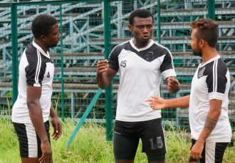 Mohammedan Sporting Club players during a training session (Photo courtesy: Mohammedan Sporting Club)