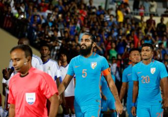 Indian national team star defender Sandesh Jhingan (Photo courtesy: AIFF Media)
