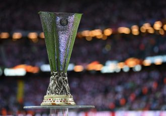 STOCKHOLM, SWEDEN - MAY 24: The UEFA Europa League trophy is seen inside the stadium prior too the UEFA Europa League Final between Ajax and Manchester United at Friends Arena on May 24, 2017 in Stockholm, Sweden. (Photo by Mike Hewitt/Getty Images)