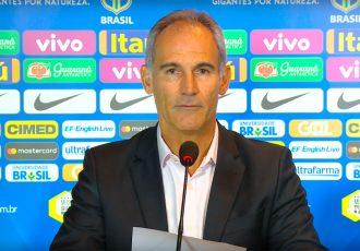 Brazil U-17 Head Coach Carlos Amadeu (Photo courtesy: Screenshot - CBF TV)