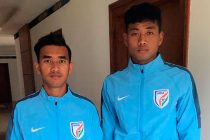 India U-19 stars Kishan Singh Thongam and Jayananda Singh Moirangthem (Photo courtesy: Delhi Dynamos FC)