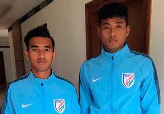 India U-19 stars Kishan Singh Thongam and Jayananda Singh Moirangthem (Photo courtesy: Delhi Dynamos FC)