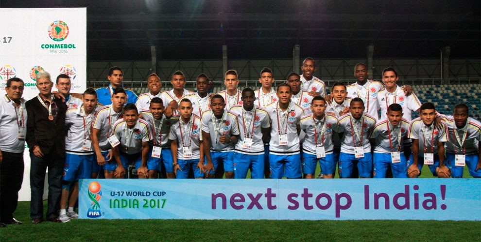 Colombia become the first team to arrive for FIFA U-17 World Cup India 2017 (Photo courtesy: FIFA U-17 World Cup India 2017 LOC)