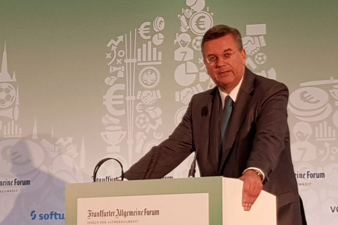 DFB President Reinhard Grindel at the #3 International Frankfurt Football Summit 2017. (© CPD Football)