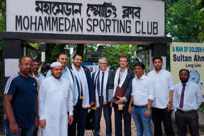 FIFA and AFC officials visit Mohammedan Sporting Club (Photo courtesy: Mohammedan Sporting Club)