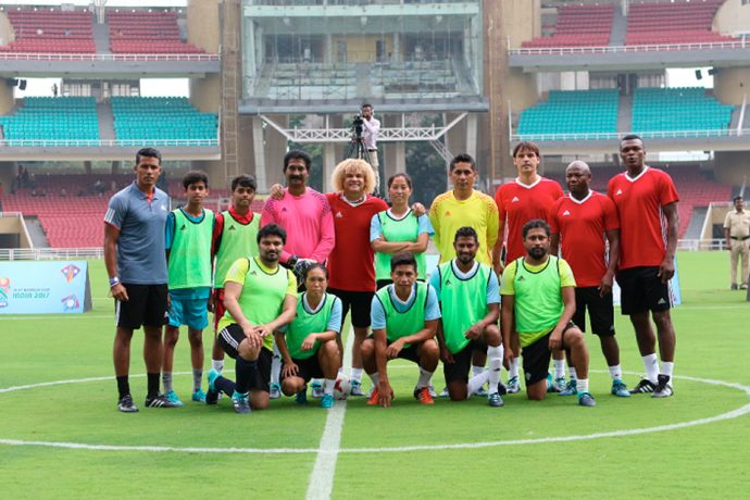 Legends match sets stage for FIFA U-17 World Cup India 2017 (Photo courtesy: FIFA U-17 World Cup India 2017)