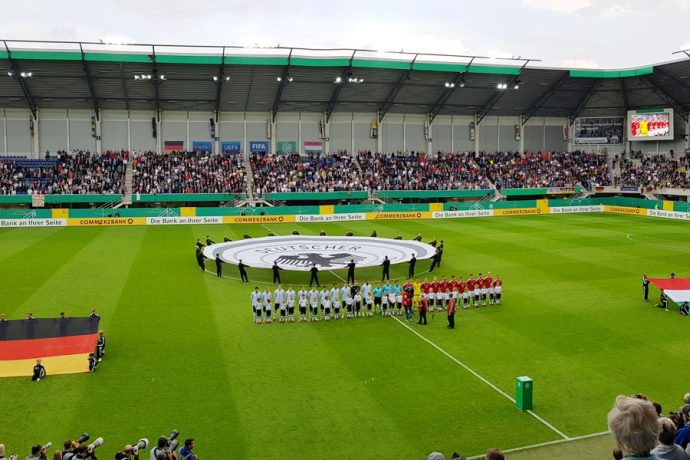 Germany U-21 v Hungary U-21 at the Benteler Arena in Paderborn on September 1, 2017. (© CPD Football)