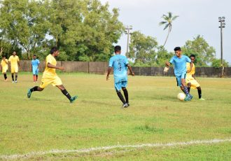 GFA Third Division League action between Carmona SC and Margao SC (Photo courtesy: Goa Football Association)