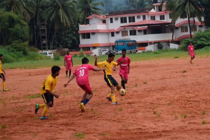 Latif scores twice as Dando Boys down United Club of Benaulim in a GFA Third Division League match. (Photo courtesy: Goa Football Association)