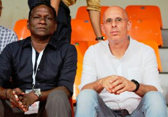 India legend IM Vijayan and national team heach coach Stephen Constantine. (Photo courtesy: AIFF Media)