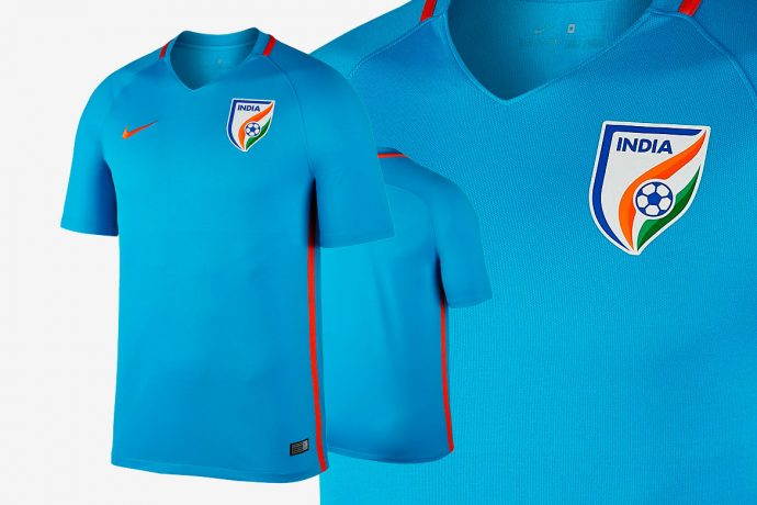 The 2017 Indian National Team Home Jersey by Nike