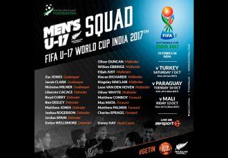 New Zealand announce FIFA U-17 World Cup India 2017 squad (Image courtesy: New Zealand Football)