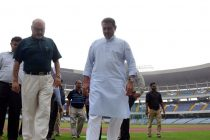AIFF President Praful Patel takes a tour of Saltlake Stadium in Kolkata (Photo courtesy: AIFF Media)